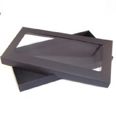 DL Black Invitation Boxes With Aperture Lid